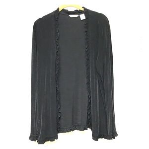 Black open Laura Ashley cardigan with frills